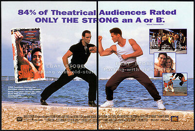 ONLY THE STRONG__Original 1993 Trade AD movie promo__MARK DACASCOS_Stacey Travis