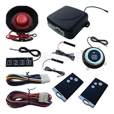 Smart RFID PKE Car Alarm System Password Keyless Entry Remote Engine Start Stop