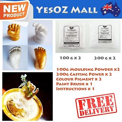 3D Baby Casting DIY Kit 400g Moulding 400g Casting 2 Bag White Pigment 100% Safe