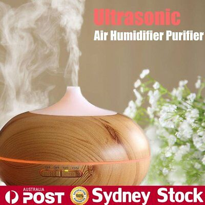 LED Essential Diffuser Oil Ultrasonic Humidifier Air Aromatherapy Purifier OP