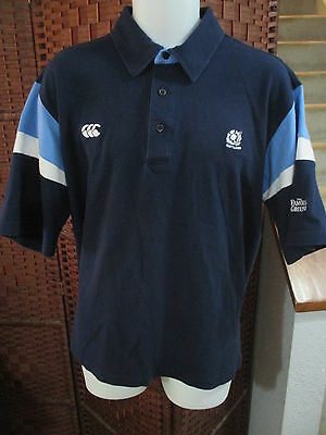 Men's Canterbury Scotland Rugby Jersey Polo Shirt Size XL The Famous Grouse