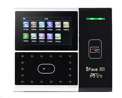 125K ID Card & Face Time Attendance And Access Control Terminal ZKteco IFace301