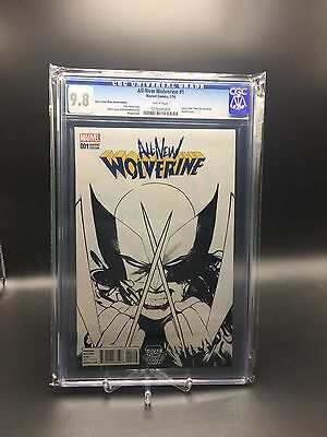 All-New Wolverine #1 CGC 9.8 LCSD Sketch Variant Local Comic Shop Day 500 Made