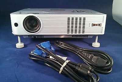 EIKI LC-XB23 Brilliant Home Theater Projector Bundle. 4518 Lamp Hours.