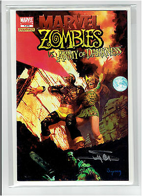 Marvel Zombies Army Of Darkness #1 Signed Arthur Suydam Dynamic Forces Coa