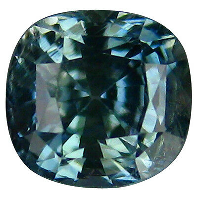 0.85 Ct 100%beautiful Rarest Natural Good Luster Blue Sapphire Cushion Gemstone