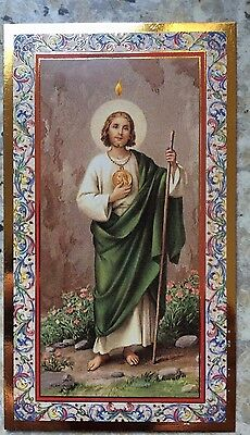 St Jude Holy Card with Don't Quit inspirational quote