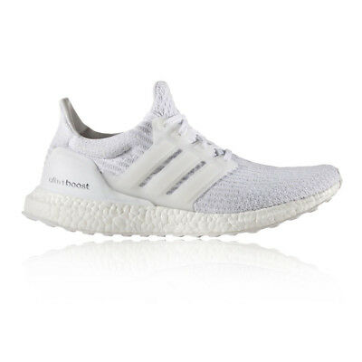 Adidas Ultra Boost Mens White Cushioned Running Sports Shoes Trainers Pumps
