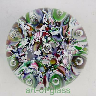 Vintage Paul Ysart harlequin glass paperweight