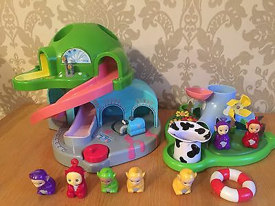 Teletubbies  -Pop In And Play Teletubbies Dome House & Bath Hill Playset Figures