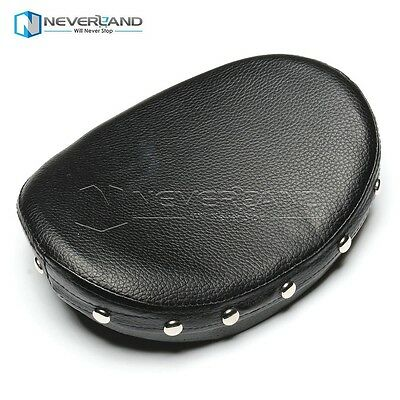 Rivet Motorcycle Backrest Cushion Pad For Harley Choppers Touring Cruiser Custom