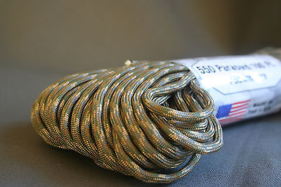 PARACORD MultiCam Camouflage 7 Strand 550LB Type III Military 100ft USA made