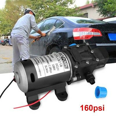 100W Electric High Pressure Self-priming Diaphragm Water 160psi Pump 12V 8L/min