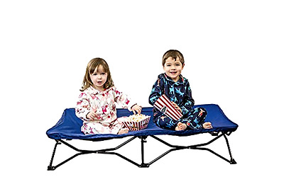 My Cot Regalo Portable Bed Royal Blue Made of Durable Steel and Plastic Foldable