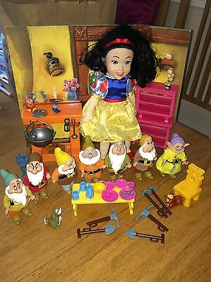 Vintage Simba Snow White Seven Dwarfs, Furniture and Accessories