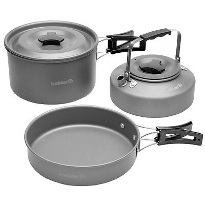 NEW Trakker Armolife Complete Camping Cookware Pan & Kettle Set - 211205