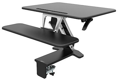 CrystalTec OF103DM Height Adjustable 80cm x 52cm Sit Stand Standing Desk