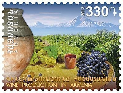 Armenia MNH** 2013 National Wine production in Armenia 2 stamps + 2 Lebel Ararat