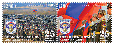 Armenia MNH** 2017 Anniversary of the Formation of the Armenian Army 2 stamps