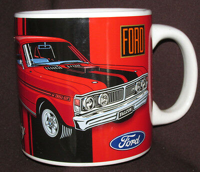 FORD 351 GTS FALCON MUG Car Automobile Legendary RED BLACK Vehicle 10CmT