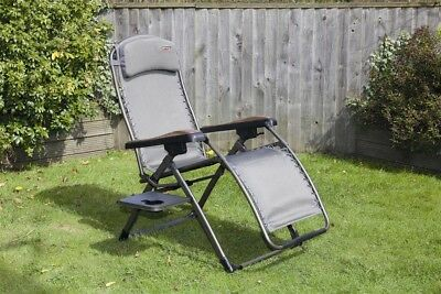 Quest Elite Naples Pro Relax Chair with Table | Outdoor Camping
