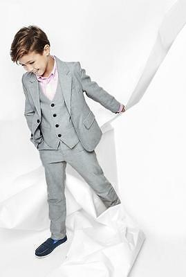 Handsome Light Grey Boy Suits Formal Prom Party Suit Communion Suits Tuxedos