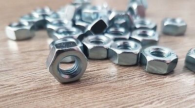 M6 Full Nuts Hex Zinc Plated BZP 5 / 10 / 25 / 50 / 100 / 500 nut pack sizes