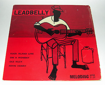"""Leadbelly - The Music of Huddie Ledbetter - EP 4 track - Original Melodisc 7"""""""
