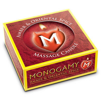 Monogamy Massage Candle Steamy Amber & Oriental Spice Scented