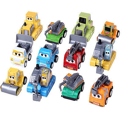 12 Pcs Cute Plastic Wind Up Pull Along Toy Car Pull Them back And Watch Them Go