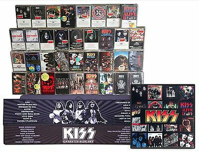 KISS lot of 36 NEW/SEALED cassettes in a custom XXL home made box set + xtras
