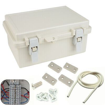 240x170x110mm Waterproof Plastic Enclosure DIY Electronic Junction Box + Cable