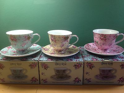 china cup and  saucer Ditsy rose cps3
