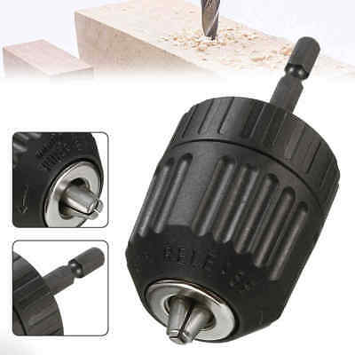 0.8-10mm 3/8'' 24UNF Keyless Drill Chuck Converter & 1/4'' Hex Shank Adaptor
