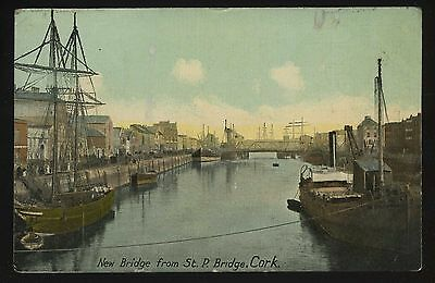 New Bridge from St P Bridge Cork Ireland Vintage Postcard A2