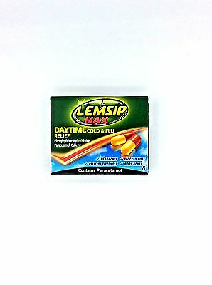 Lemsip Max Daytime Cold & Flu Relief Capsules x 8