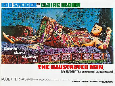 """The Illustrated Man 16"""" x 12"""" Reproduction Movie Poster Photograph"""
