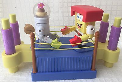 Spongebob & Sandy Cheeks Boxing Ring 2004 Interactive Game Toy Works