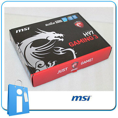 Placa base ATX MSI H97 GAMING 3 Socket 1150 con Accesorios