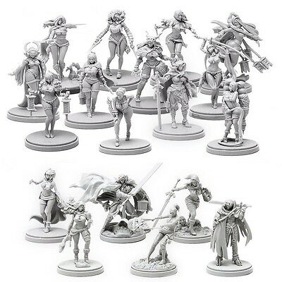 Kingdom Death Monster Naked Kickstarter Pinup and Promo Collections 18 Minis