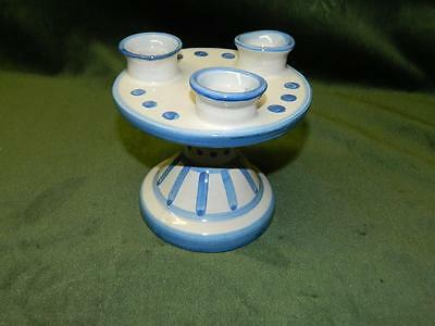 M A Hadley 3 Candle Holder NICE!!!!