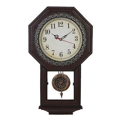 Vintage Grandfather Wall Clock Home Retro Decor Rustic Style Antique Old Classic