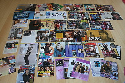 articles clippings posters bon jovi 90's european magazines mint condition