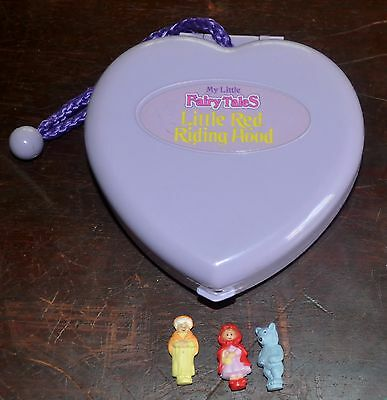 1994 COMPLETE My Little Fairy Tales RED RIDING HOOD Heart Compact by Prime Time