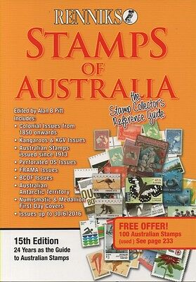 Australian Stamp Catalogue 15th edition Renniks Stamps of Australia - new