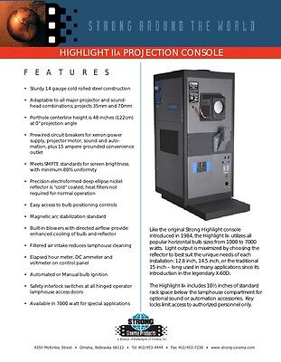 Strong Highlight IIA Xenon  35mm projection Console UNUSED NEW IN FACTORY CRATE