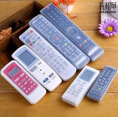 Silicone TV Remote Control Case Cover Video AC Air Condition Dust Protect Storag