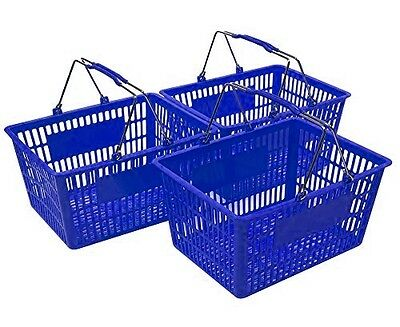 NEW Shopping Basket Set set of 3 Blue