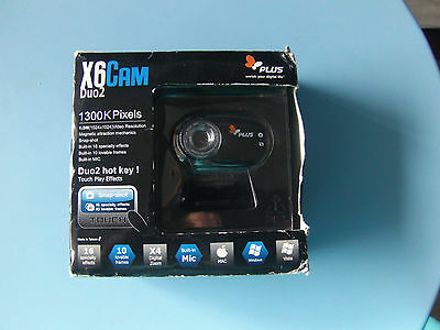 X6 Cam Duo 2 Webcam with Built-in Microphone 1.3 Megapixel by X6 Cam Duo 2