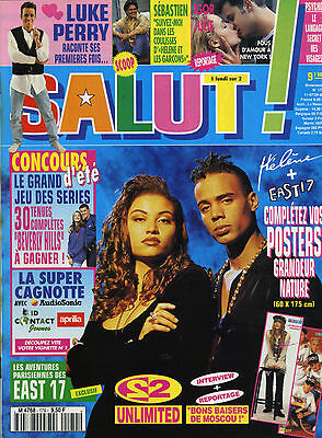 Magazine SALUT n°174, 2 UNLIMITED, 90210, HELENE, CORONA, EAST 17, Bryan ADAMS